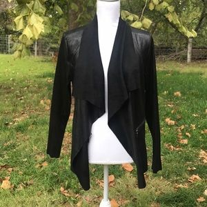 Black Faux Leather lightweight jacket NWT